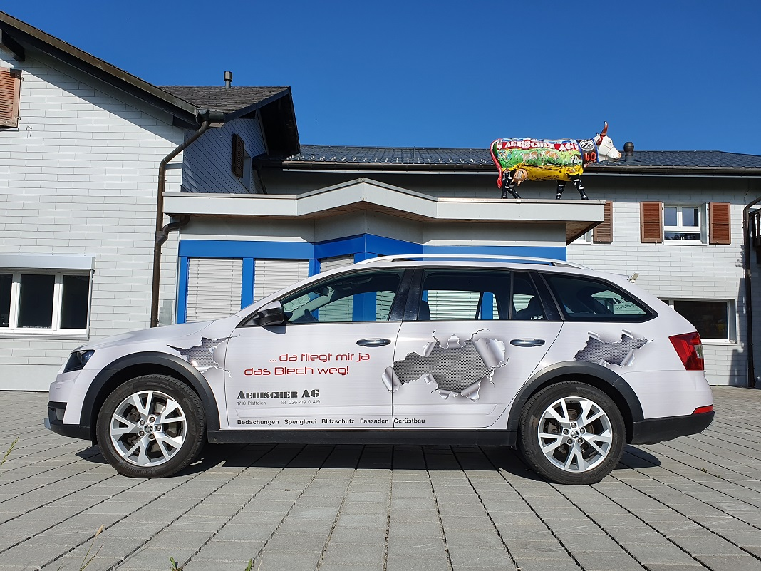 Car Wrapping Skoda Octavia Scout Aebischer Ag